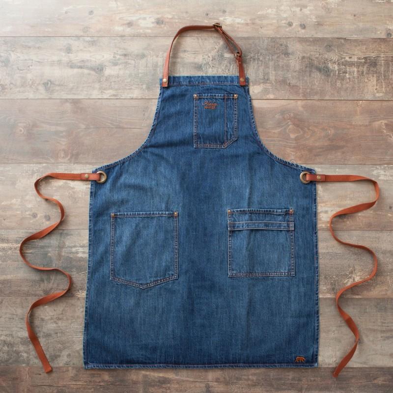 Tablier jean cuir alaskan maker