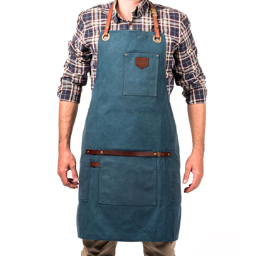 Apron No.547 - Peacock Blue